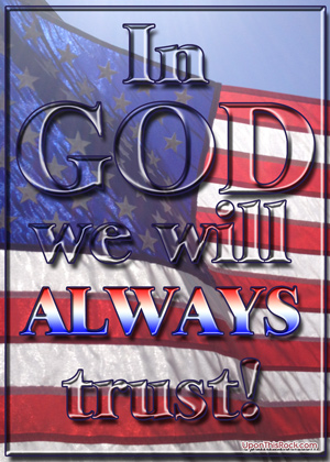 In God We Will Always Trust Christian Graphic